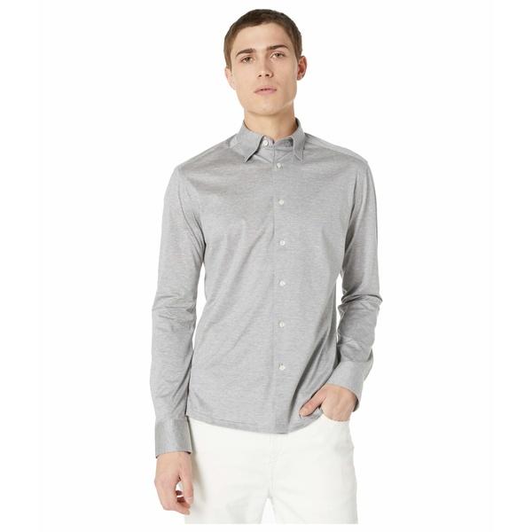 エトン メンズ シャツ トップス Casual Fit Jersey Long Sleeve Grey