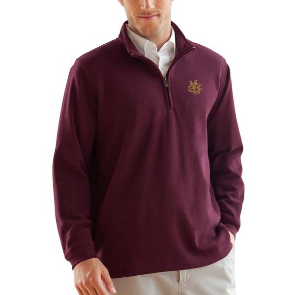 ビンテージアパレル メンズ ジャケット&ブルゾン アウター CMU Mavericks FlatBack Rib 1/4Zip Pullover Sweater Maroon