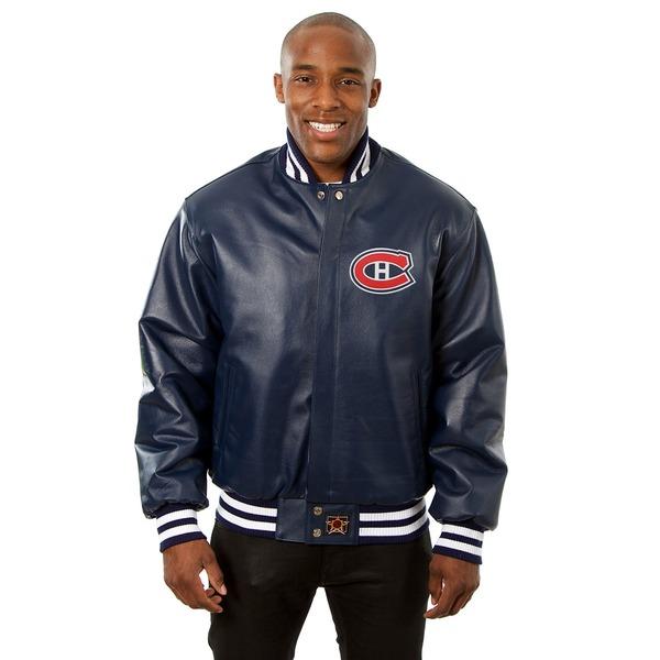 ジェイエイチデザイン メンズ ジャケット&ブルゾン アウター Montreal Canadiens JH Design Jacket Navy