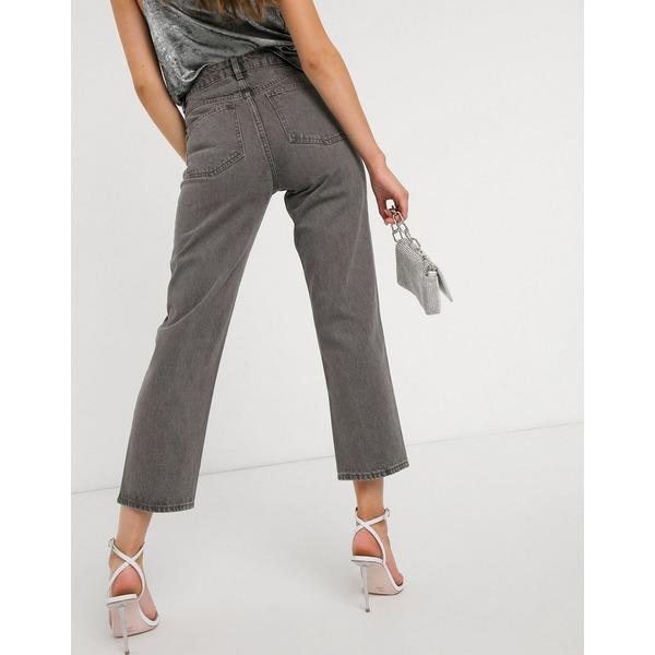 エイソス レディース デニムパンツ ボトムス ASOS DESIGN Florence authentic straight leg jeans in dark gray wash Dark gray