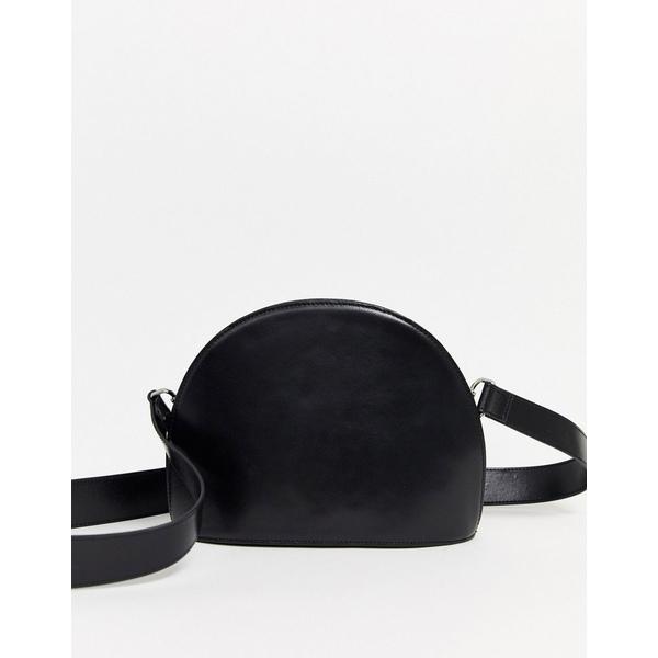 エイソス レディース 財布 アクセサリー 財布・ケース  ASOS DESIGN leather large half moon cross body bag Black