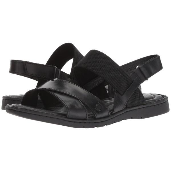 ボーン レディース サンダル シューズ Zinnia Black Full Grain Leather
