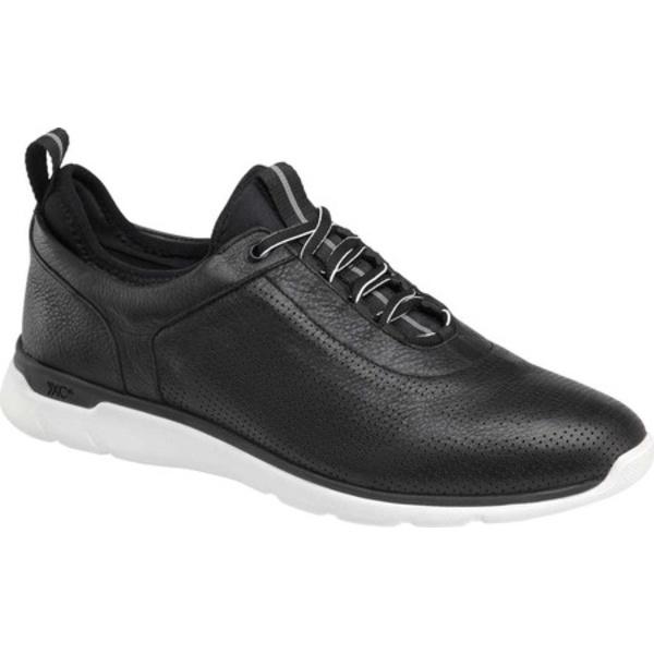 ジョンストンアンドマーフィー メンズ シューズ スニーカー Black Waterproof U-Throat Sneaker Prentiss 安売り 本日の目玉 Men's 全商品無料サイズ交換 Leather