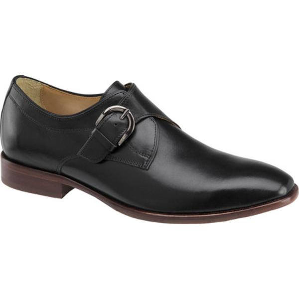 ジョンストンアンドマーフィー メンズ シューズ ドレスシューズ Black Full 驚きの値段 Leather Grain 返品不可 McClain 全商品無料サイズ交換 Men's Monkstrap