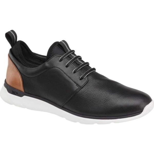 ジョンストンアンドマーフィー メンズ シューズ 大決算セール 再販ご予約限定送料無料 スニーカー Black Waterproof Leather Sneaker 全商品無料サイズ交換 Plain Men's Prentiss Toe
