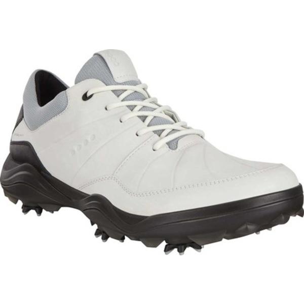 エコー メンズ シューズ スニーカー White Leather 全商品無料サイズ交換 Strike Spiked HYDROMAX Men's Water-Resistant Shoe 新品未使用正規品 Golf ファッション通販