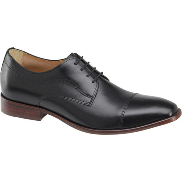 ジョンストンアンドマーフィー 本日限定 メンズ シューズ ドレスシューズ Black Full Grain Toe McClain Men's Leather Oxford Cap 春の新作シューズ満載 全商品無料サイズ交換