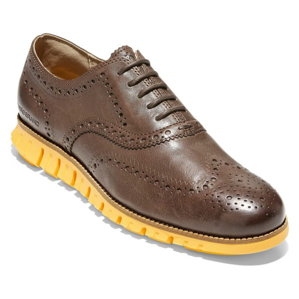 コールハーン メンズ ドレスシューズ シューズ Cole Haan 'ZeroGrand' Wingtip (Men) Bracken Leather/ Golden Rod