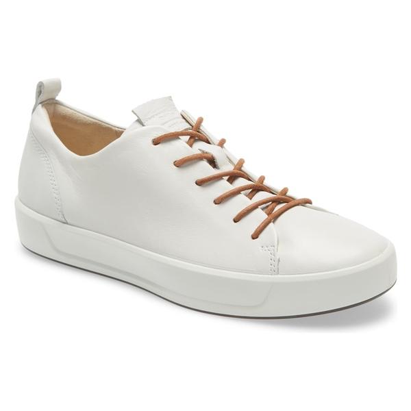 エコー レディース スニーカー シューズ Ecco Soft 8 Sneaker (Women) White Leather