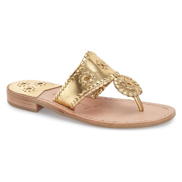 ジャックロジャース レディース サンダル シューズ Jack Rogers Jacks Flip Flop (Women) Gold Leather