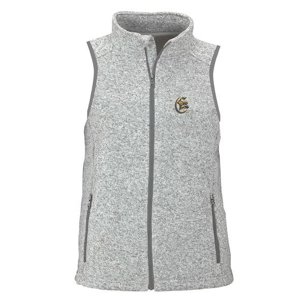 ビンテージアパレル レディース ジャケット&ブルゾン アウター Canisius College Golden Griffins Women's Summit Fleece Full Zip Sweater Vest Heather Gray