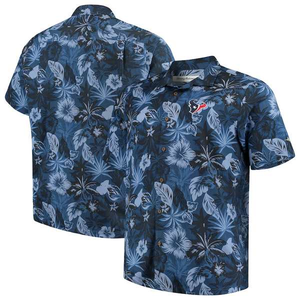 トッミーバハマ メンズ シャツ トップス Houston Texans Tommy Bahama Big & Tall Fuego Floral Button-Up Shirt Navy