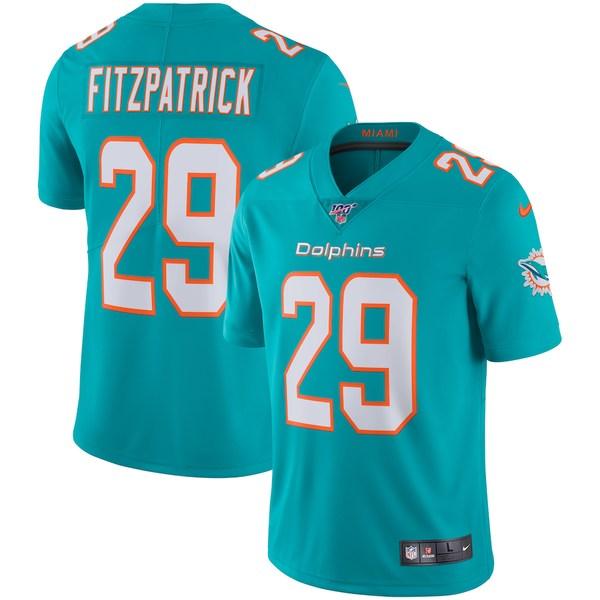 ナイキ メンズ シャツ トップス Minkah Fitzpatrick Miami Dolphins Nike NFL 100 Vapor Limited Jersey Aqua