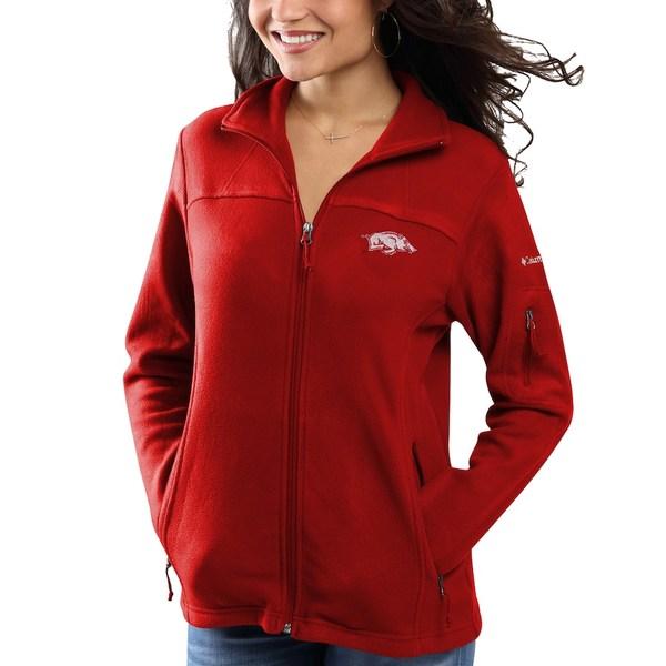 コロンビア レディース ジャケット&ブルゾン アウター Arkansas Razorbacks Columbia Women's Give & Go Full-Zip Jacket Cardinal