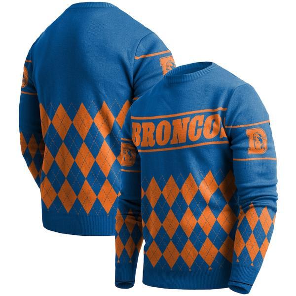 フォコ メンズ シャツ トップス Denver Broncos Retro Sweater Royal