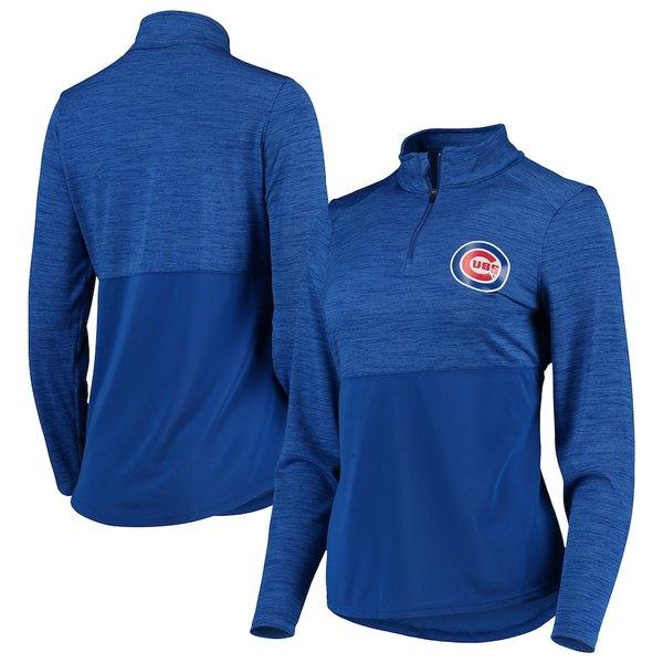 ファナティクス レディース ジャケット&ブルゾン アウター Chicago Cubs Fanatics Branded Women's Quarter-Zip Pullover Jacket Royal