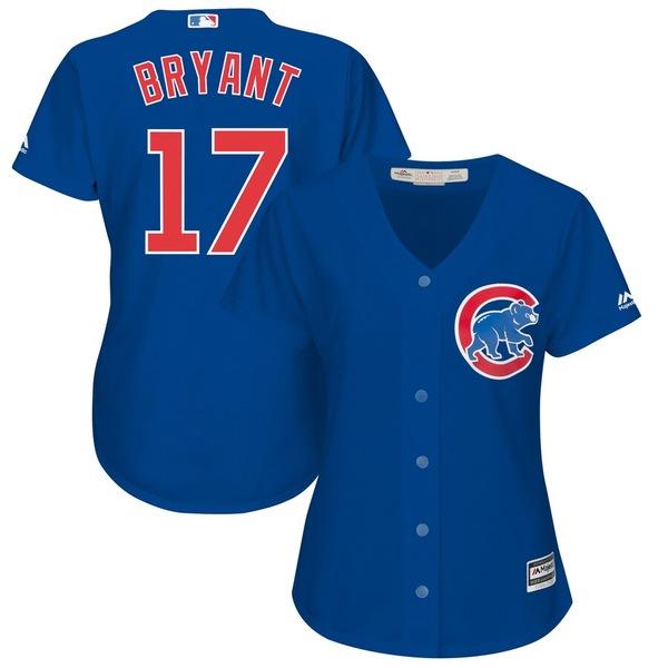 マジェスティック レディース シャツ トップス Kris Bryant Chicago Cubs Majestic Women's Plus Size Alternate Cool Base Player Jersey Royal