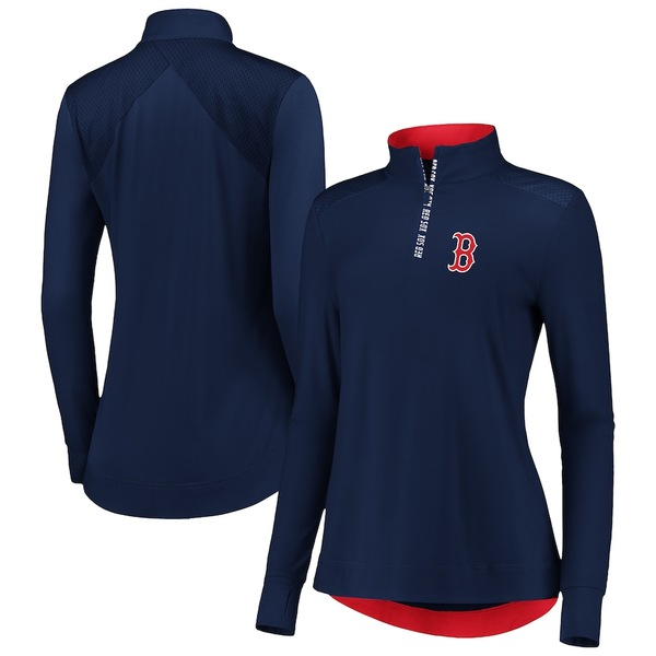 ファナティクス レディース ジャケット&ブルゾン アウター Boston Red Sox Fanatics Branded Women's Iconic Clutch Half-Zip Pullover Jacket Navy