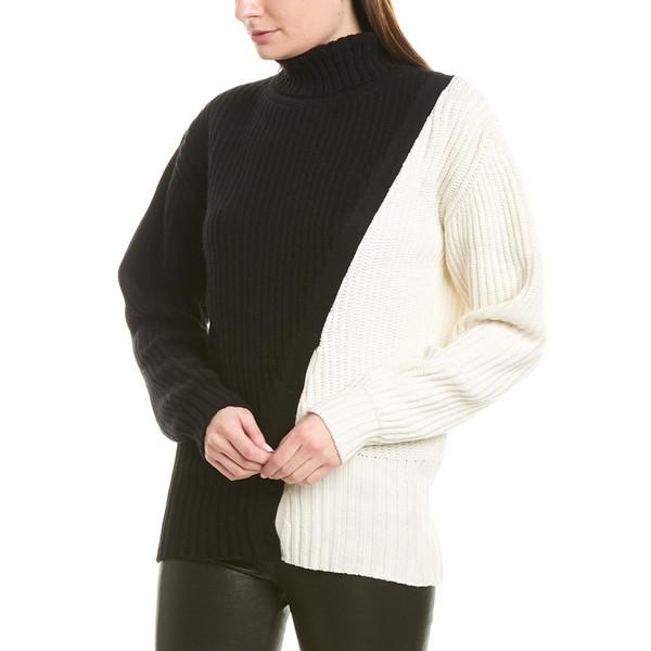 レディース PRABAL ニット&セーター Cashmere プラバルグラング GURUNG Sweater black/porcelain Diagonal アウター
