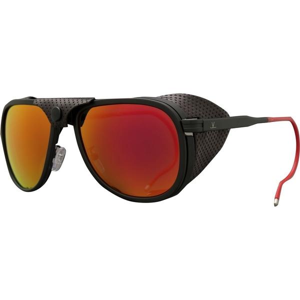 ヴュアルネ メンズ 安心の実績 高価 買取 強化中 アクセサリー サングラス 本店 アイウェア Matte Black Pure Glacier Flash Grey-Red Medium Sunglasses VL1315 全商品無料サイズ交換
