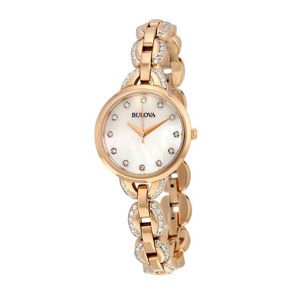 最大80%オフ! ブロバ レディース 腕時計 アクセサリー Bulova Women&39;s Stainless Steel Diamond Watch -, ブティック クロスオーバー 627a72a8
