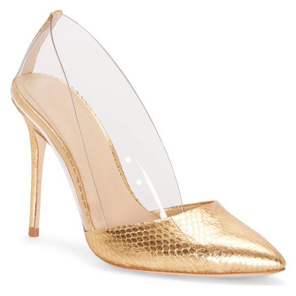 イマジン ヴィンス カムート レディース パンプス シューズ Imagine Vince Camuto 'Ossie' d'Orsay Pump (Women) Gold/ Clear