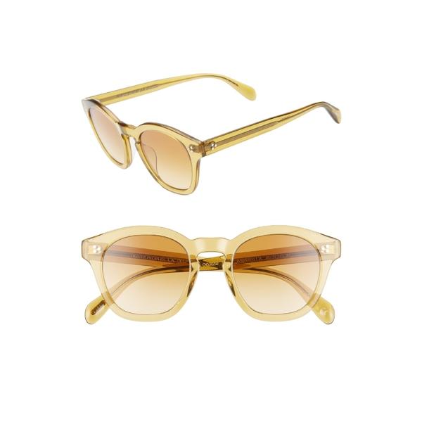 オリバーピープルズ メンズ サングラス・アイウェア アクセサリー Oliver Peoples Boudreau 48mm Round Sunglasses Honey Amaretto