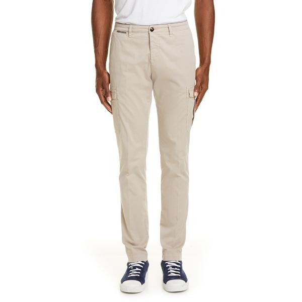 イレブンティ メンズ カジュアルパンツ ボトムス Eleventy Flat Front Stretch Cotton Cargo Dress Pants Sand