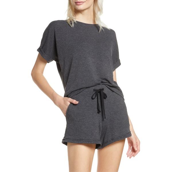 プロジェクトソーシャルティ レディース パーカー・スウェットシャツ アウター Project Social T Roxy Short Sleeve Sweatshirt Charcoal