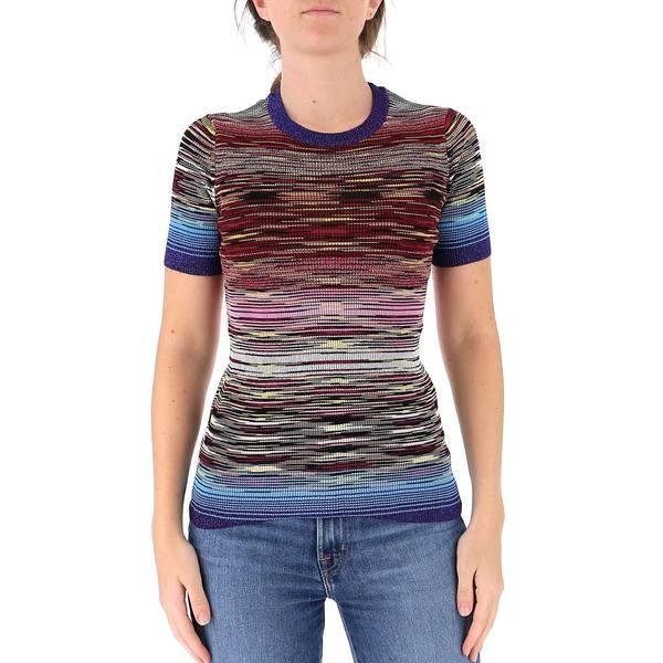 割引 ミッソーニ レディース ニット&セーター アウター Missoni Striped Ribbed Top -, 味の通り道 639568e1