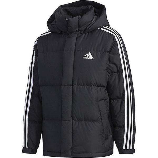 アディダス メンズ ジャケット&ブルゾン アウター Adidas Men's 3-Stripe Puff Down Jacket Black