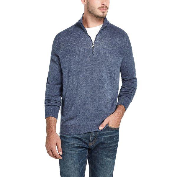 ウェザープルーフ メンズ ニット&セーター アウター Men's Soft Touch 1/4 Zip Sweater Denim Marl:asty