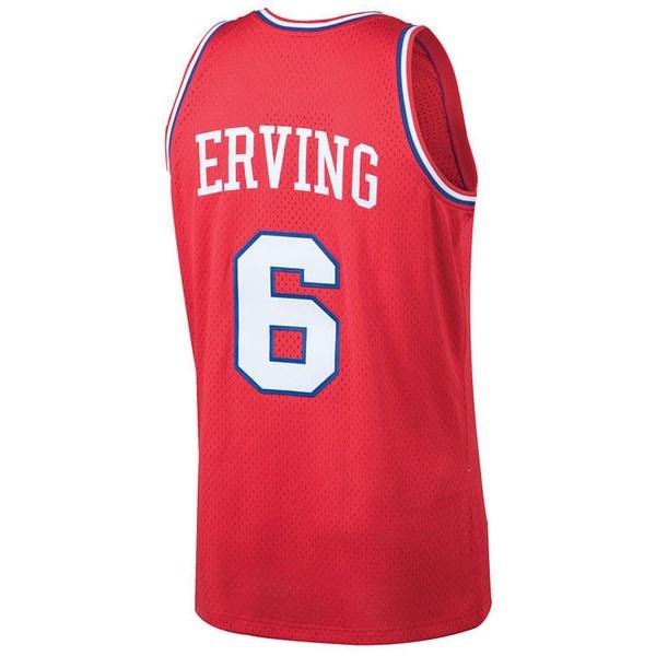 ミッチェルネス メンズ トップス ユニフォーム Red 全商品無料サイズ交換 Men's Julius Erving Jersey Swingman 76ers 売店 Hardwood 大規模セール Classic Philadelphia
