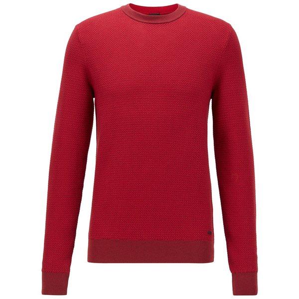 『2年保証』 ヒューゴボス メンズ ニット&セーター アウター BOSS Men&39;s Arubyno Regular-Fit Sweater Bright Red, あさひやまストアー 628ad57d