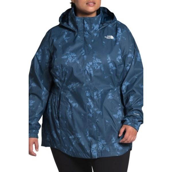 ノースフェイス レディース ジャケット&ブルゾン アウター Resolve II Hooded Windproof Parka (Plus Size) SHADY BLUE