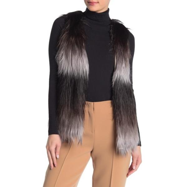 タルト レディース ジャケット&ブルゾン アウター Jamie Faux Fur Vest WHITE/BLAC