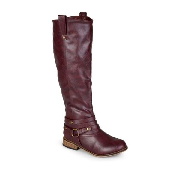 ジャーニーコレクション レディース ブーツ&レインブーツ シューズ Walla Harness Riding Boot WINE