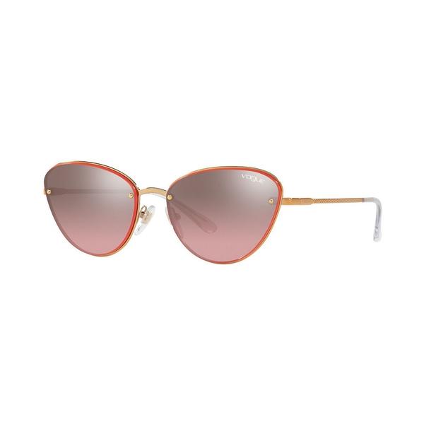 ヴォーグ レディース アクセサリー サングラス アイウェア ROSE GOLD PINK 買物 本日限定 57 SILVER 全商品無料サイズ交換 MIRROR Sunglasses VO4111S Eyewear GRADIENT