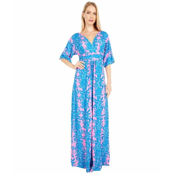 リリーピュリッツァー レディース ワンピース トップス Parigi Maxi Dress Prosecco Pink Dilly Dally