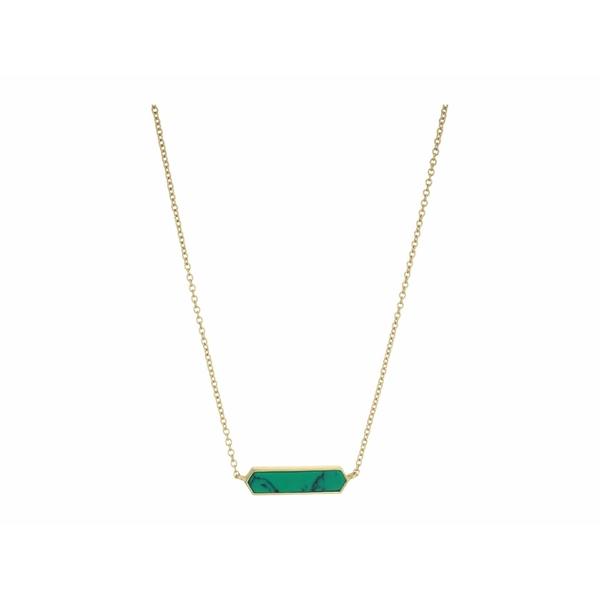 ゴリアナ レディース ネックレス・チョーカー・ペンダントトップ アクセサリー Corina Charm Necklace Green Turquoise
