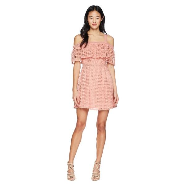 ビービーダコタ レディース ワンピース トップス Aitana Geometric Lace Dress Rosette Pink