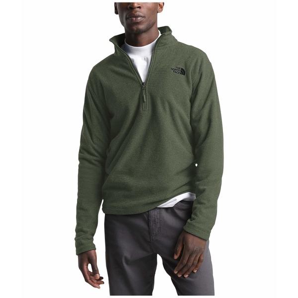 ノースフェイス メンズ コート アウター Textured Cap Rock 1/4 Zip New Taupe Green