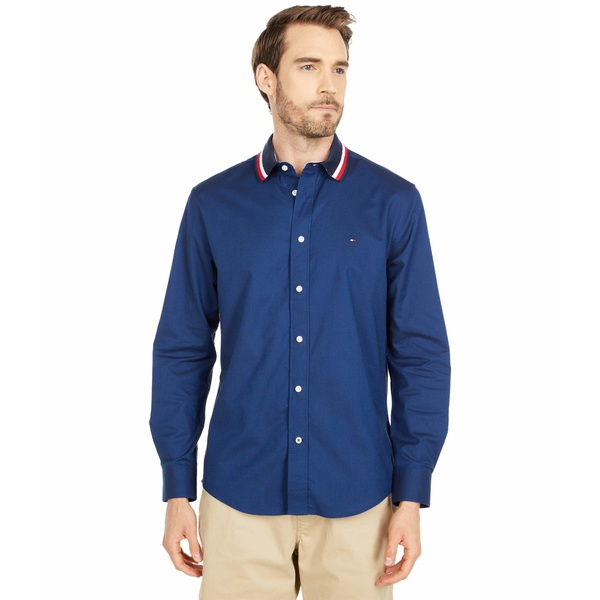 トミーヒルフィガー メンズ シャツ トップス Hilfiger Collar Woven Shirt Sky Captain