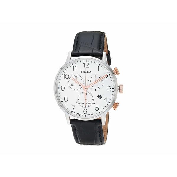 タイメックス メンズ 腕時計 アクセサリー Waterbury Classic Chrono White/Black