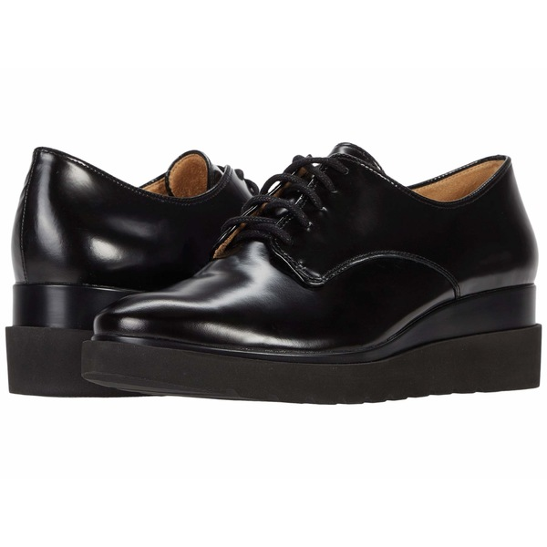 ナチュライザー レディース オックスフォード シューズ Sonoma Black Brush-Off Leather