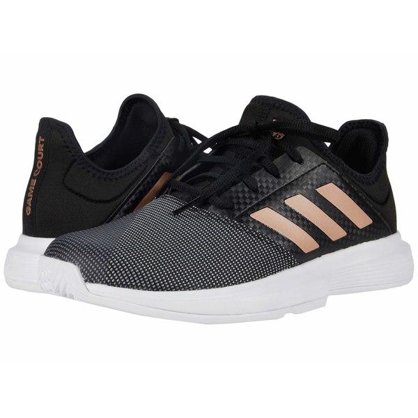 アディダス レディース スニーカー シューズ GameCourt Core Black/Copper Metallic/Footwear White