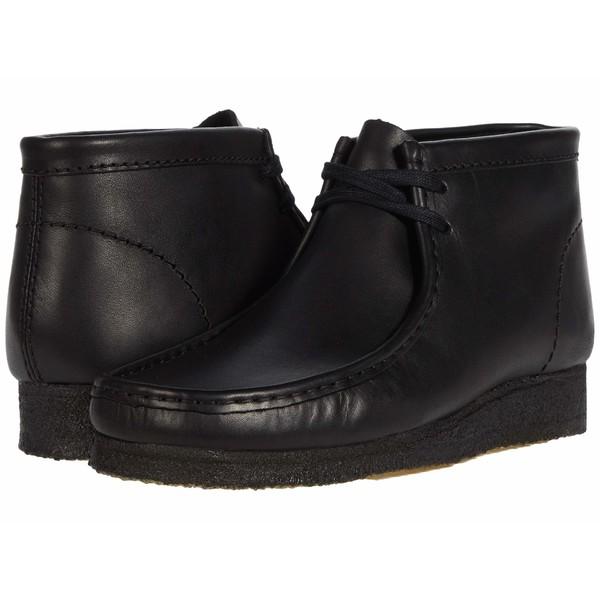 クラークス メンズ ブーツ&レインブーツ シューズ Wallabee Boot Black Leather