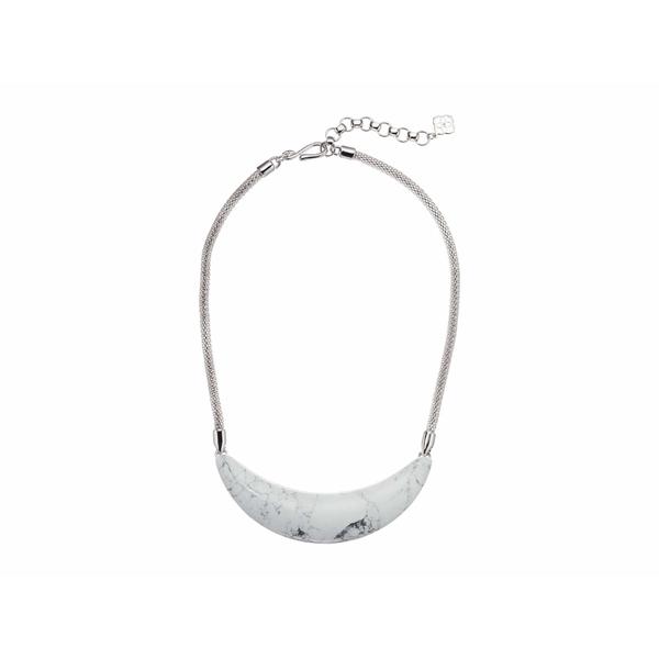 ケンドラスコット レディース ネックレス・チョーカー・ペンダントトップ アクセサリー Kaia Collar Necklace Rhodium White Howlite