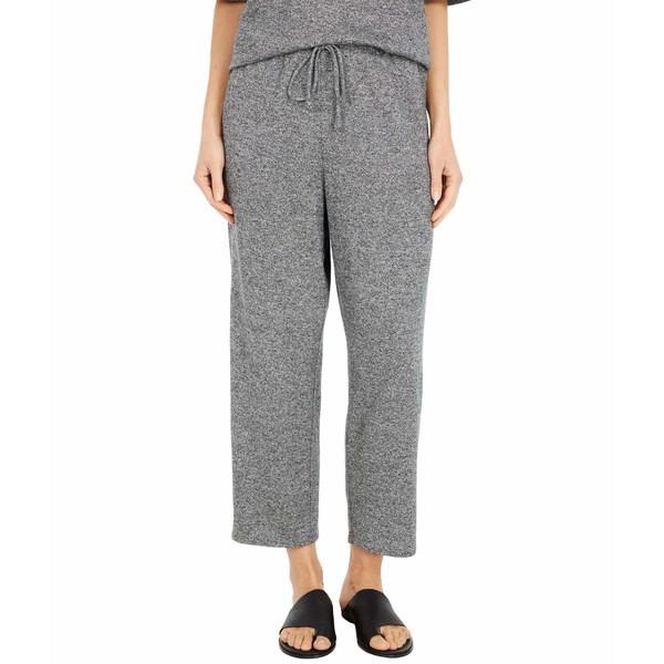 エイリーンフィッシャー レディース カジュアルパンツ ボトムス Organic Cotton Hemp Melange Slouchy Cropped Pants Ash
