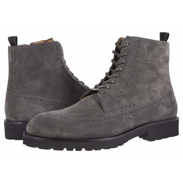 <title>ヒューゴボス メンズ シューズ ブーツ レインブーツ Dark Grey 国内正規品 全商品無料サイズ交換 Brogue Detail Suede Lace-Up Boot</title>